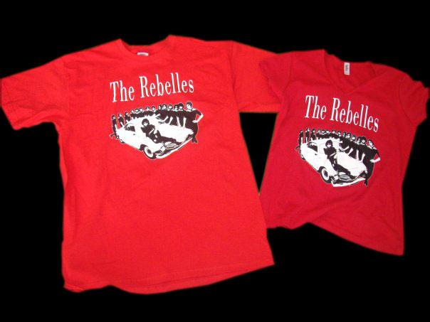 Rebelles t-shirts in red